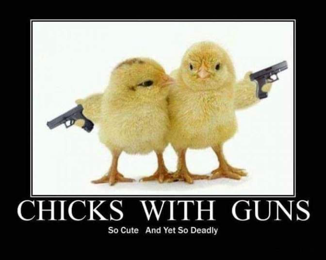 Chicks with guns💥