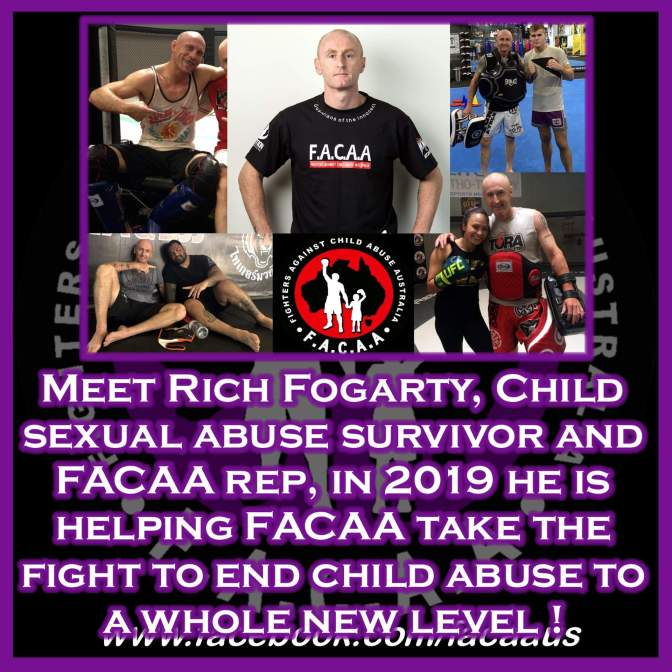 Meet Rich Fogarty, child sexual abuse survivor and FACAA rep. In 2019 he is helping FACAA take the fight to end child abuse to a whole new level !